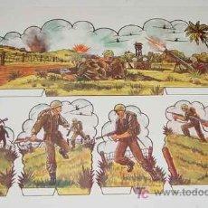 Coleccionismo Recortables: ANTIGUO RECORTABLE MILITARES - ESCENAS DE GUERRA Nº 3 - MIDE 34 X 24 CMS. PAPER SOLDIER . Lote 4012758