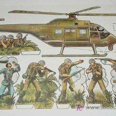 Coleccionismo Recortables: ANTIGUO RECORTABLE MILITARES - ESCENAS DE GUERRA Nº 5 - MIDE 34 X 24 CMS. PAPER SOLDIER . Lote 4012765