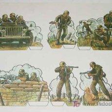 Coleccionismo Recortables: ANTIGUO RECORTABLE MILITARES - ESCENAS DE GUERRA Nº 9 - MIDE 34 X 24 CMS. PAPER SOLDIER . Lote 4012796