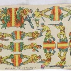 Coleccionismo Recortables: RECORTABLE EDICIONES RIBAS HORDAS PATRULLA EN ACECHO 16 CM X 11 CM. Lote 4085644
