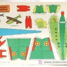 Coleccionismo Recortables: RECORTABLE EDICIONES BRUGUERA 1959 AEREO ESQUI CANADIENSE 30 CM X 21 CM. Lote 4086819