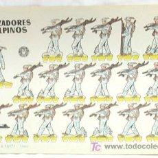 Coleccionismo Recortables: RECORTABLE EDICIONES BRUGUERA 1960 CAZADORES ALPINOS 24 CM X 17 CM. Lote 4120472