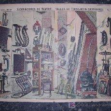 Coleccionismo Recortables: RECORTABLE DECORACIONES DE TEATRO TALLER DE CERRAJERIA BASTIDORES. Lote 6365569