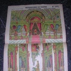 Coleccionismo Recortables: DECORACIONES DE TEATRO FONDO DE PALACIO Y SUS BASTIDORES, Nº1072, ESTAMPERIA ECONOMICA PALUZIE. Lote 6365584