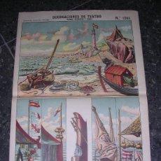 Coleccionismo Recortables: DECORACIONES DE TEATRO MARINA ( BASTIDORES Y FONDO) Nº 1081, ESTAMPERIA ECONOMICA PALUZIE. Lote 8351136