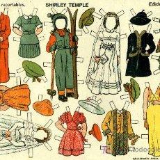 Coleccionismo Recortables: RECORTABLE SHIRLEY TEMPLE EDICIONES T B O Nº 9. Lote 83895703