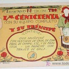 Coleccionismo Recortables: ANTIGUO CUADERNILLO DE RECORTABLES DE LA CENICIENTA CON SU EQUIPO COMPLETO Y SU PRINCIPE - RECORTABL. Lote 25961703