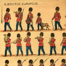 Coleccionismo Recortables: EUROPEOS RECORTABLE SUCESORES DE HERNANDO, SERIE, EJERCITOS EUROPEOS, Nº 5. Lote 4713204