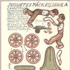 Coleccionismo Recortables: JUGUETES FACILES. SERIE A. CARRETON. 12 X 9 CM.. Lote 4903389