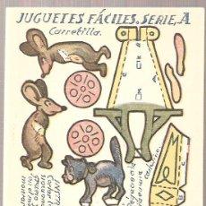 Coleccionismo Recortables: JUGUETES FACILES. SERIE A. CARRETILLA. 12 X 9 CM.. Lote 4903402