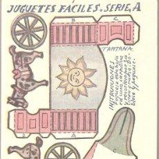 Coleccionismo Recortables: JUGUETES FACILES. SERIE A. TARTANA. 12 X 9 CM.. Lote 4903407