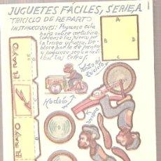 Coleccionismo Recortables: JUGUETES FACILES. SERIE A. TRICICLO DE REPARTO. 12 X 9 CM.. Lote 4903411