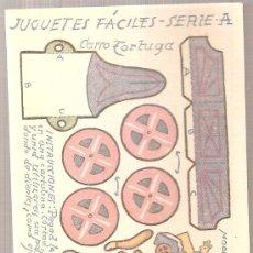 Coleccionismo Recortables: JUGUETES FACILES. SERIE A. CARRO TORTUGA. 12 X 9 CM.. Lote 4903414