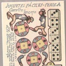 Coleccionismo Recortables: JUGUETES FACILES. SERIE A. CARRITO MONO. 12 X 9 CM.. Lote 4903425