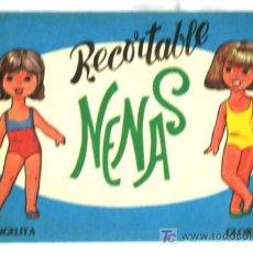 Coleccionismo Recortables: CUADERNO RECORTABLES SERIE NENAS DE ANGELITA Y GLORIA 1977 EDITORIAL VASCO AMERICANA. Lote 4957063