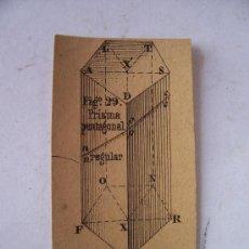 Coleccionismo Recortables: GEOMETRIA: PRISMA PENTAGONAL REGULAR, FIGª29, CON SELLO. Lote 23208460