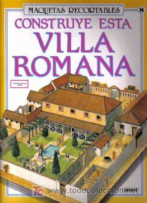 MAQUETA RECORTABLE DE VILLA ROMANA (Coleccionismo - Otros recortables)