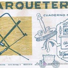 Coleccionismo Recortables: CUADERNO DE MARQUETERIA Nº 15. Lote 27585893