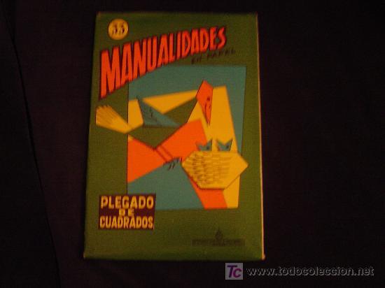 CUADERNO DE MANUALIDADES EN PAPEL. PLEGADO DE CUADRADOS. (Coleccionismo - Otros recortables)