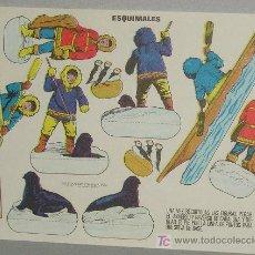 Coleccionismo Recortables: RECORTABLE. ESQUIMALES. ESTAMPAS DE ESPAÑA. Lote 6500404