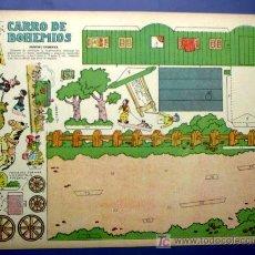 Coleccionismo Recortables: RECORTABLE DEL TBO. CARRO DE BOHEMIOS. APROXIMADAMENTE AÑOS 1940/50.. Lote 36603755