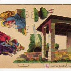 Coleccionismo Recortables: PEDESTAL BÍBLICO. Nº 3. ADORACION DE LOS REYES MAGOS. EDICIONES BARSAL. BARCELONA. BELÉN.. Lote 24257110
