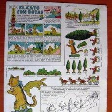 Coleccionismo Recortables: EL GATO CON BOTAS - RECORTABLE EDICIONES TBO - VER FOTOS INTERIORES. Lote 11812857