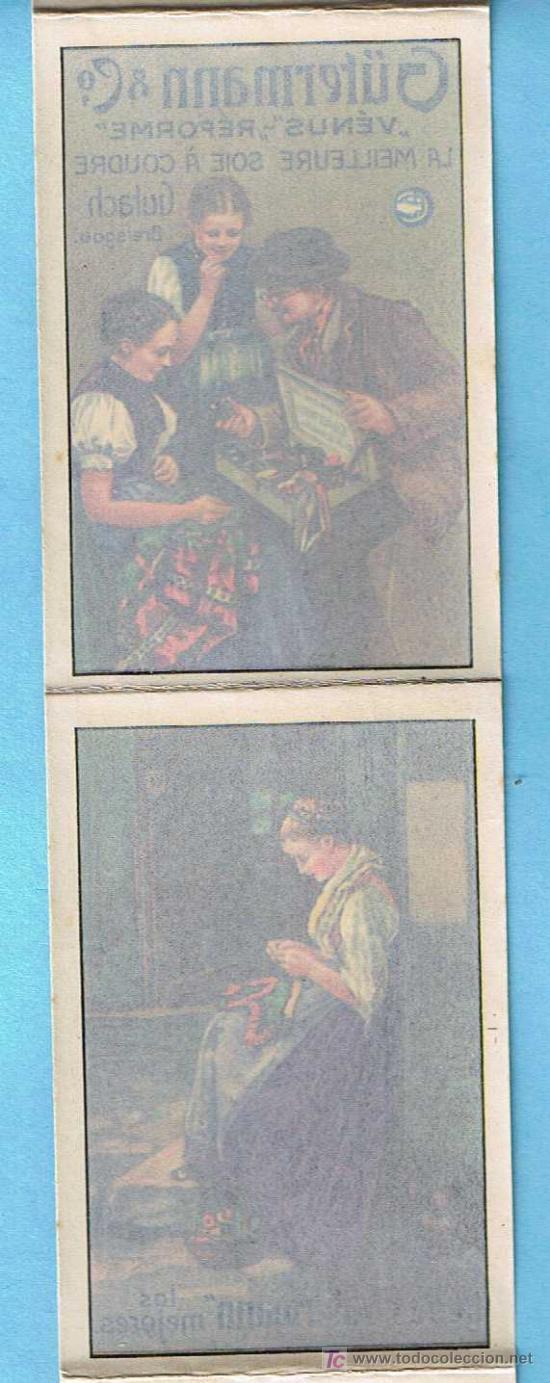 Coleccionismo Recortables: ÁLBUM CALCOMANÍA. REGALO DE LAS FÁBRICAS DE SEDAS PARA COSER GUTERMANN. 6 CALCOMANIAS/CARTELES, S/F. - Foto 3 - 24968175