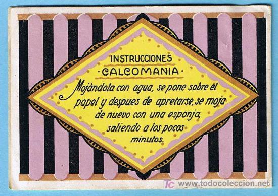 Coleccionismo Recortables: ÁLBUM CALCOMANÍA. REGALO DE LAS FÁBRICAS DE SEDAS PARA COSER GUTERMANN. 6 CALCOMANIAS/CARTELES, S/F. - Foto 6 - 24968175