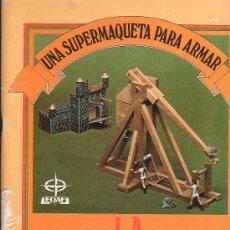 Coleccionismo Recortables: UNA SUPERMAQUETA PARA ARMAR - LA CATAPULTA , SERIE CONSTRUYE Y JUEGA - EDAF 1986. Lote 8531972