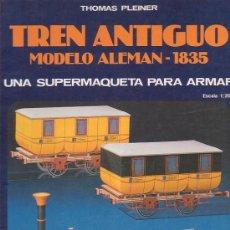 Coleccionismo Recortables: TREN ANTIGUO - MODELO ALEMAN 1835 - UNA SUPERMAQUETA PARA ARMAR - EDAF 1986 EBAY. Lote 8531962