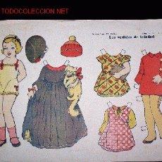 Coleccionismo Recortables: LOS VESTIDOS DE SOLEDAD. CONST. EL NIÑO. COL. 25, NUM. 3. 35 X 48 CM.. Lote 25229674
