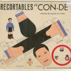 Coleccionismo Recortables: (4752-F)RECORTABLES CON-DE DEL PORTERO R.C.D.ESPAÑOL,AT.BILBAO O C.F.BARCELONA AÑOS 50-60(97X17CM.). Lote 9867925