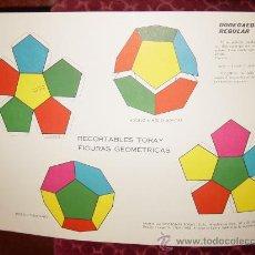 Coleccionismo Recortables: RECORTABLES TORAY. FIGURAS GEOMETRICAS GRUPO 21:DODECAEDRO REGULAR. BARCELONA 1961. Lote 25041233