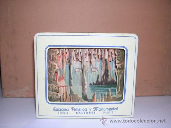 DIORAMA.ESPAÑA ARISTICA Y MONUMENTAL SERIE,8 BALEARES N. 3 -MANACOR CUEVA DEL DRAC (Coleccionismo - Otros recortables)