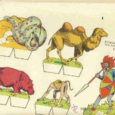 Coleccionismo Recortables: COLECCION COMPLETA DE 9 RECORTABLES DE ANIMALES (RECORTES BABY DE ED.ROMA). Lote 13070513