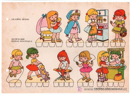LAMINA DE RECORTABLES BABY. ESCENAS INFANTILES Nº 8. EDITORIAL ROMA-BARCELONA (Coleccionismo - Otros recortables)