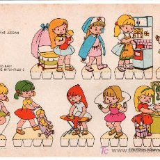 Coleccionismo Recortables: LAMINA DE RECORTABLES BABY. ESCENAS INFANTILES Nº 8. EDITORIAL ROMA-BARCELONA. Lote 13610672