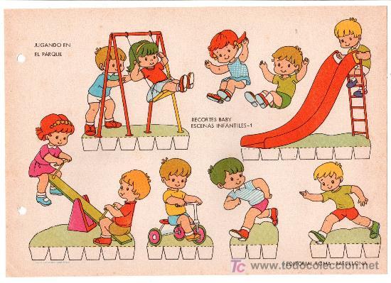 LAMINA DE RECORTABLES BABY. ESCENAS INFANTILES Nº 1. EDITORIAL ROMA-BARCELONA (Coleccionismo - Otros recortables)