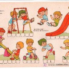 Coleccionismo Recortables: LAMINA DE RECORTABLES BABY. ESCENAS INFANTILES Nº 1. EDITORIAL ROMA-BARCELONA. Lote 13610716