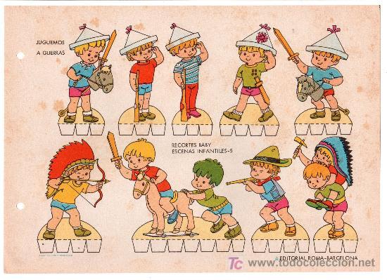 LAMINA DE RECORTABLES BABY. ESCENAS INFANTILES Nº 5. EDITORIAL ROMA-BARCELONA (Coleccionismo - Otros recortables)