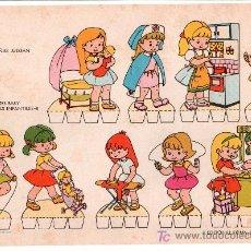 Coleccionismo Recortables: LAMINA DE RECORTABLES BABY. ESCENAS INFANTILES Nº 8. EDITORIAL ROMA-BARCELONA. Lote 13610759