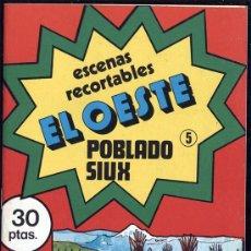 Coleccionismo Recortables: ESCENAS RECORTABLES EL OESTE Nº 5 POBLADO SIUX. Lote 14983921