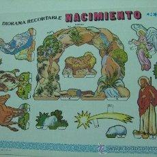 Coleccionismo Recortables: DIORAMA RECORTABLE NACIMIENTO BELEN PESEBRE NAVIDAD ED. EDIVAS. Lote 30918330