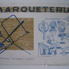 Coleccionismo Recortables: MARQUETERIA - CUADERNO Nº 3 (1.960) - EDITORIAL SALVATELLA. Lote 23780871