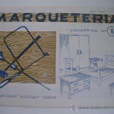 Coleccionismo Recortables: MARQUETERIA - CUADERNO Nº 6 (1.960) - EDITORIAL SALVATELLA. Lote 23780876