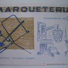 Coleccionismo Recortables: MARQUETERIA - CUADERNO Nº 12 (1.960) - EDITORIAL SALVATELLA. Lote 23780882