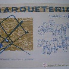 Coleccionismo Recortables: MARQUETERIA - CUADERNO Nº 28 (1.960) - EDITORIAL SALVATELLA. Lote 23780885