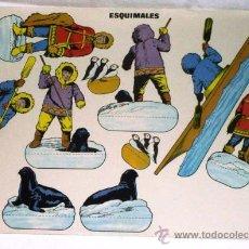Coleccionismo Recortables: RECORTABLE ESQUIMALES 26 CM X 19 CM. Lote 15057843