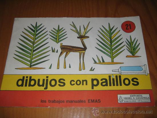 Cuaderno de dibujos con palillos n 21 edito comprar for Manualidades con palillos de dientes